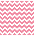Zigzag pattern in baby pink isolated on white vector image vector image