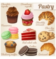 Set of food icons Pastry vector image