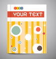 Brochure Cover Design Layout vector image