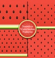 set of seamless watermelon patterns surface vector image