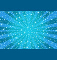 blue christmas background with stars vector image