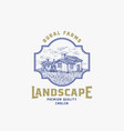 abstract rural farm sign badge or logo vector image