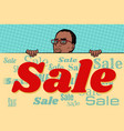 african businessman sale poster background vector image vector image