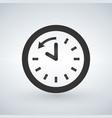 back arrow around clock glyph icon vector image vector image