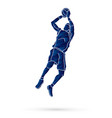 basketball player jumping and prepare shooting vector image vector image