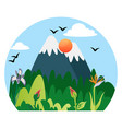 beautiful nature in mountains on white vector image