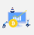 bitcoin growth concept vector image vector image
