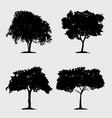 black trees icon set vector image vector image