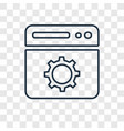 browser concept linear icon isolated on vector image vector image