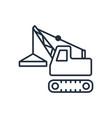 building crane icon symbols vector image vector image