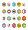 Business and Office Colored Icons 16 vector image vector image