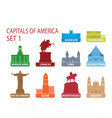 Capitals of america vector | Price: 1 Credit (USD $1)