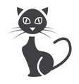 cat glyph icon halloween and scary animal sign vector image vector image