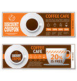 Coffee discount coupon or gift voucher vector image vector image