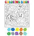 coloring book with sea animals 4