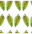 coloured corn seamless natural pattern vector image vector image