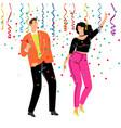 corporate confetti party vector image vector image