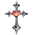cross symbol tattoo vector image vector image