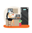 daily life business woman having lunch break vector image vector image