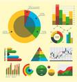 design diagram chart elements vector image vector image