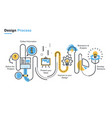 design process vector image