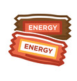 different energy bars vector image vector image