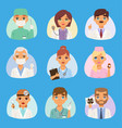 doctors and nurses medical staff people vector image