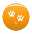 dog step icon orange vector image vector image