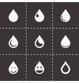drop icon set vector image vector image