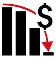 Financial Crisis Flat Icon vector image