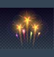 fireworks background festive fireworks vector image