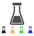 flask flat icon vector image vector image