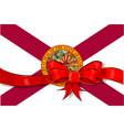 florida state flag ribbon vector image