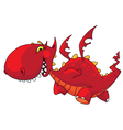 Funny dragon vector image