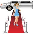 girl on the red carpet vector image
