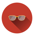 Glasses icon vector image
