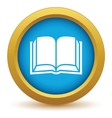 Gold book icon vector image vector image