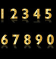 golden numbers 0-9 set vector image