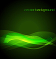green glowing stylish wave vector image