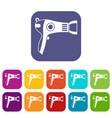 hairdryer icons set vector image vector image