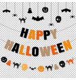 happy halloween set transparent background vector image