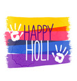 holi colors festival background with hand vector image vector image