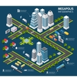 Isometric City Concept vector image vector image