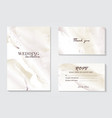 marble wedding cover background set marble tender vector image vector image
