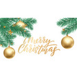merry christmas golden calligraphy lettering and vector image