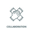 partnership collaboration line icon linear vector image vector image