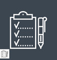 planing line icon vector image vector image