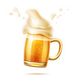 realistic beer glass mug lager ale vector image vector image