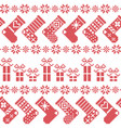 Scandinavian nordic christmas pattern with vector image vector image