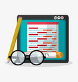 search in web related icons image vector image vector image